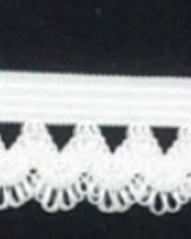 Elastisch kant -  wit (per 1m)