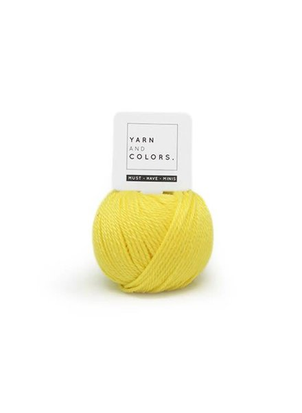 Yarn and colors Must have mini 012 lemon