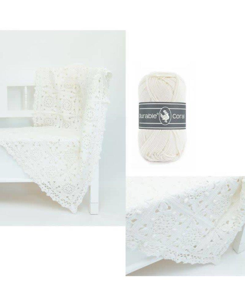 Pakket Coaster square deken - ivoor