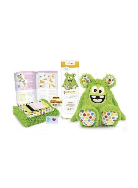 Naaipakket Kullaloo Harig monster 'MemoMonsti' - groen