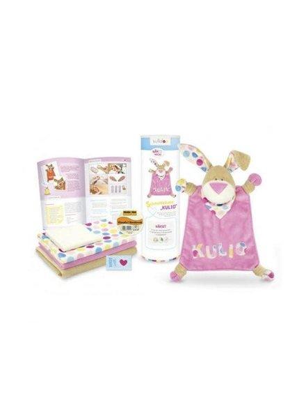 Naaipakket Kullaloo Knuffeldoek konijn 'Kulio' - roze