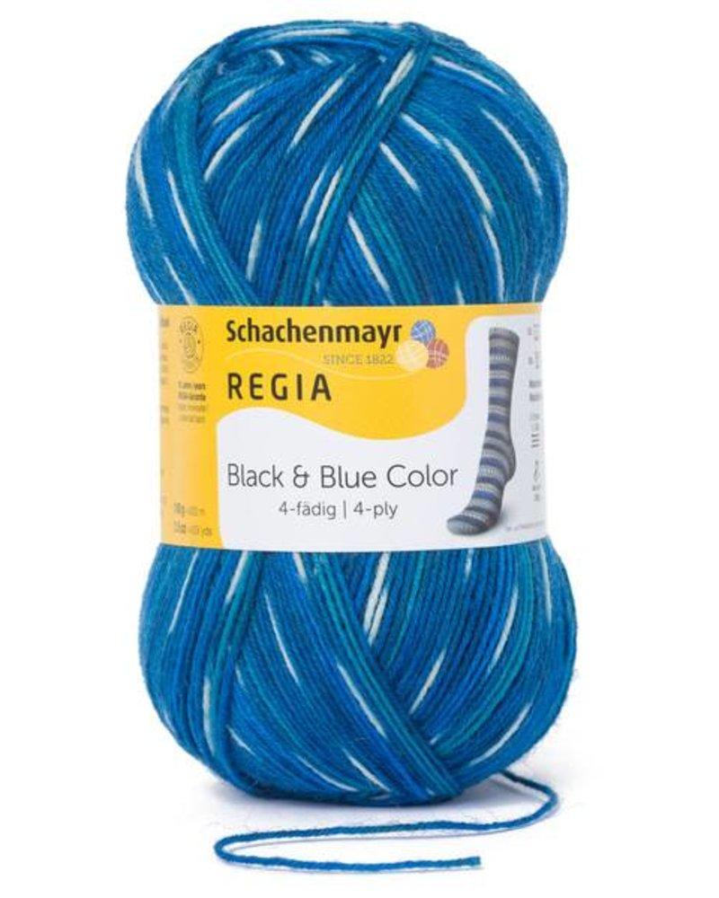 Regia Black & Blue Color 4-draads 8877 Lagune (100 gr)