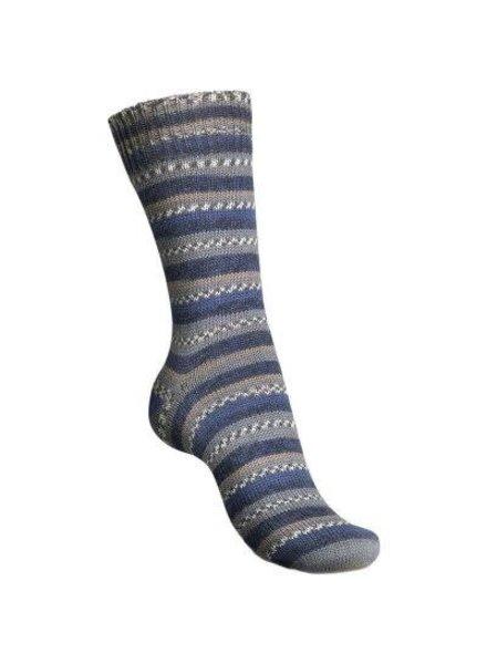 Regia Black & Blue Color 4-draads 8878 Strand (100 gr)