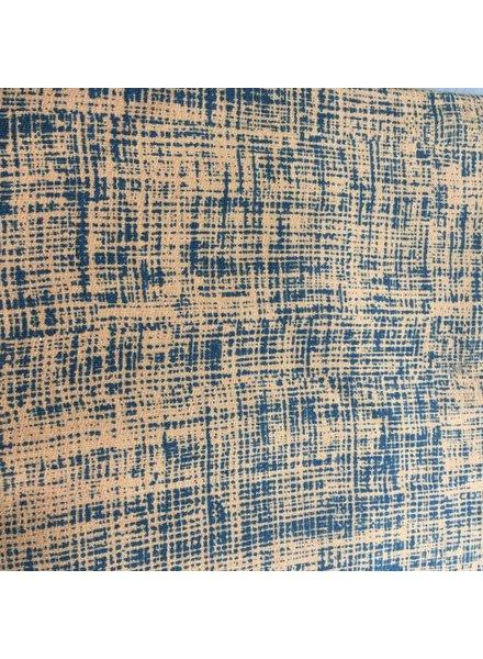 Sweat - Sketch - oker/blauw - Coupon 1m