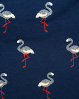 Tricot - Flamingo glitter - Coupon 1,1m