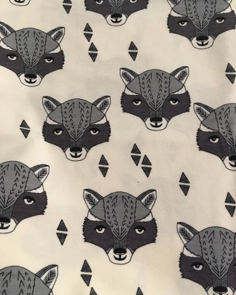 Tricot - Racoon - Coupon 0,7m
