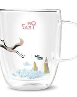 Or tea? Crane glass (dubbelwandig)