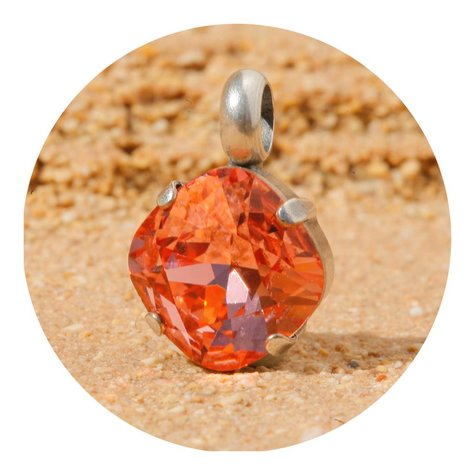 artjany Anhänger mit einem crystal in rosé peach