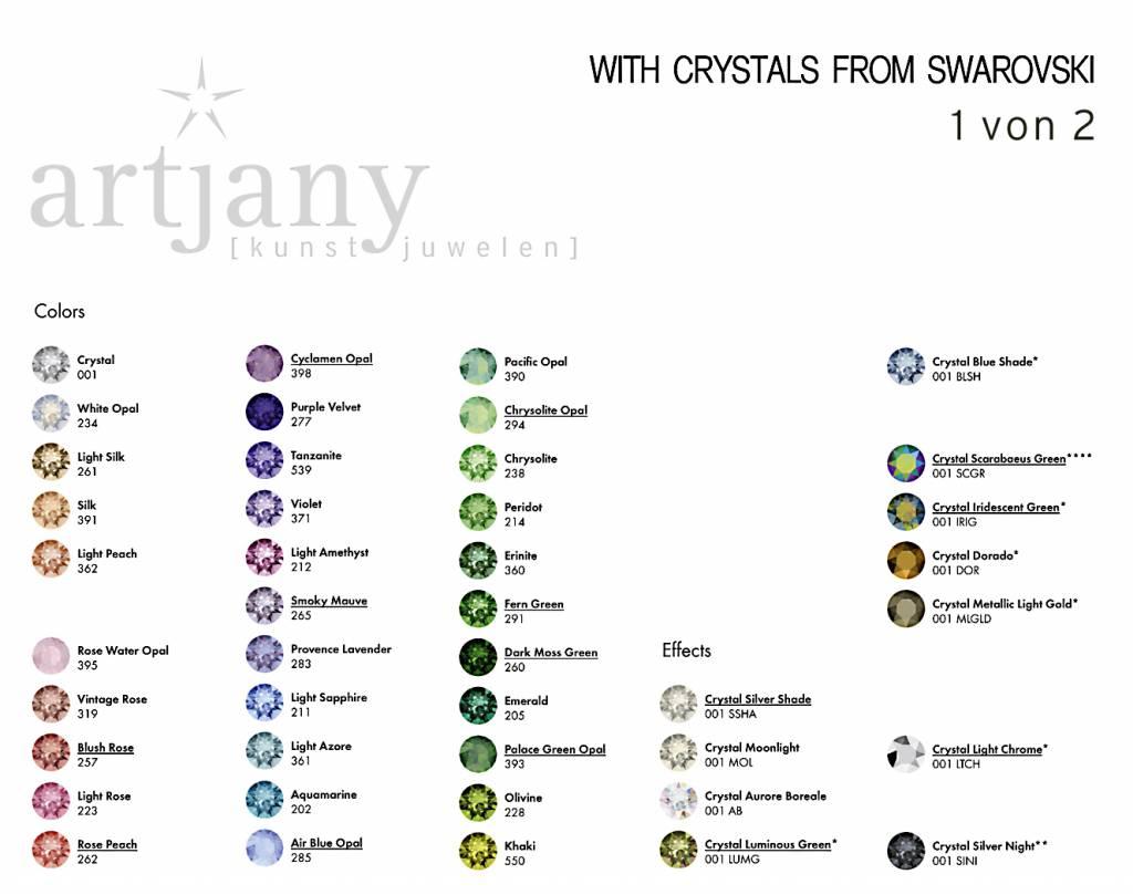 artjany dreireihiges Armband mit Kristallen in crystal