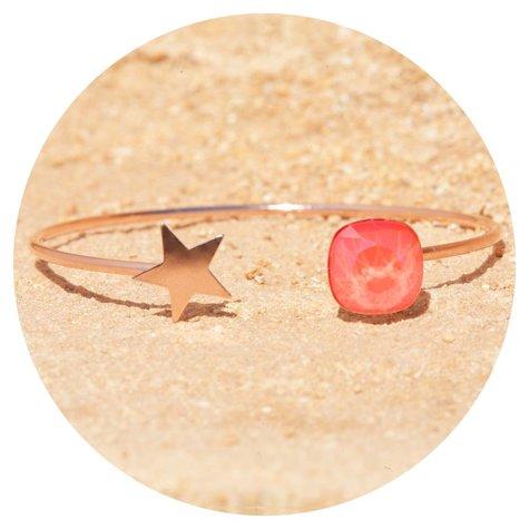 artjany Armreif mit einem Kristall & einem Stern