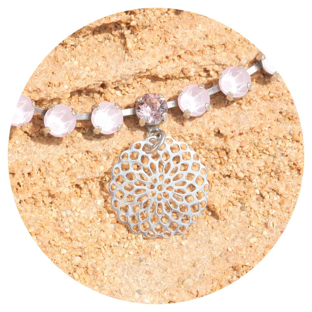 artjany Mandala Collier mit crystals in puder rose