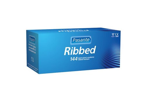 Pasante Ribbed condooms 144 stuks