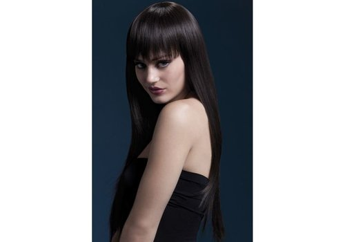 Fever Jessica Wig 26inch/66cm Brown Long Straight with Fringe