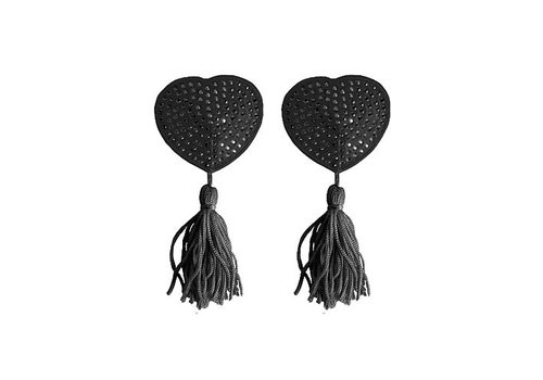 Tepel Kwastjes Hartvorm - Zwart
