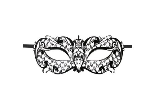 Easytoys Venetiaans Masker Metaal - Zwart