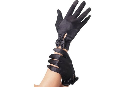Handschoenen Met Strik - Zwart