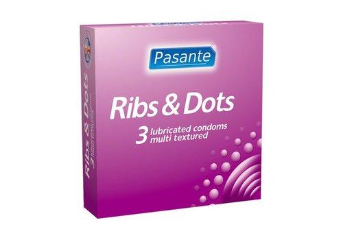 Pasante Ribs & Dots condooms 3st