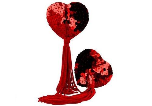 Ondeugende Tepel Hartjes - Rood