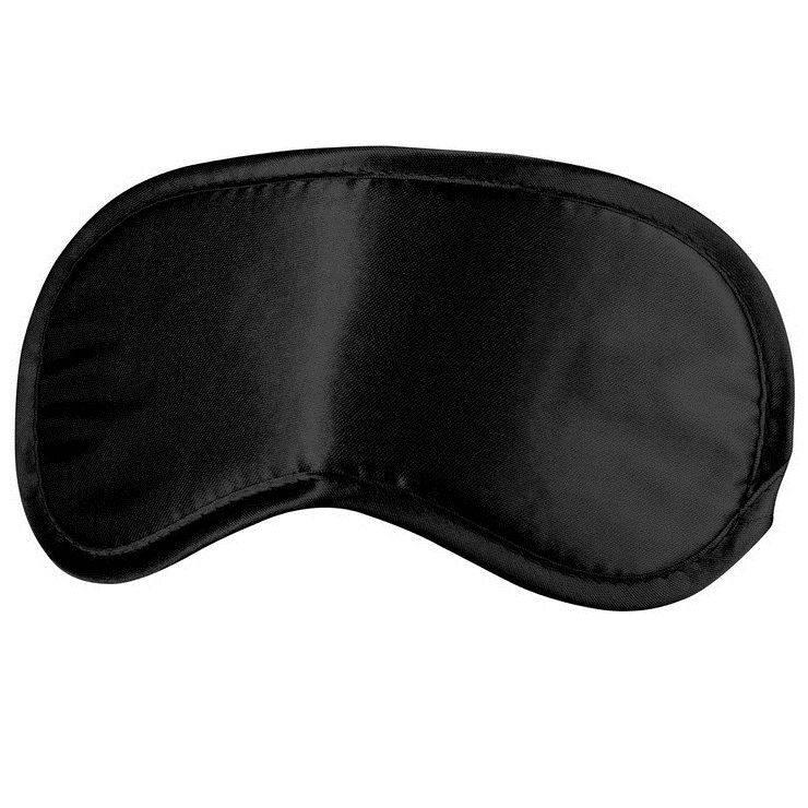 Dit zachte oogmasker blijft op zijn plaats zitten met een comfortabele elastische stoffen riem.