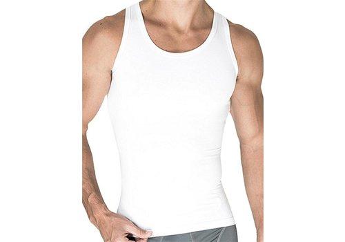 Rounderbum Compression Tank Top Cotton White