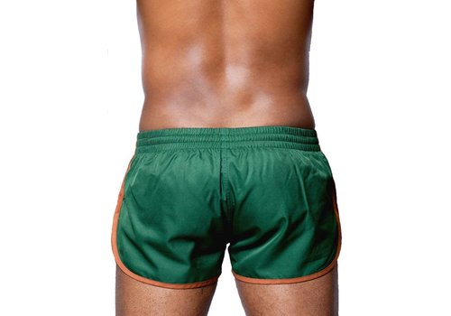 2Eros Icon Shorts Army Green/Brown (Zyzz Shorts)
