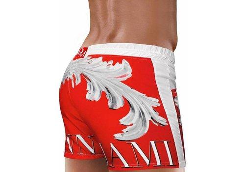 Danny Miami Crown Beach Shorts Red