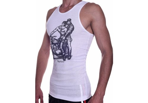 Tom of Finland Motorcycle Tank Top (Euro Size) White