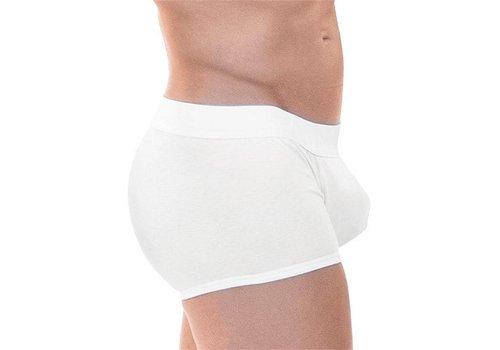 Rounderbum Package Boxer Trunk Underwear White