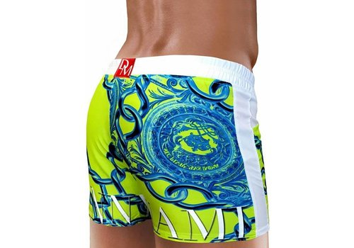 Danny Miami Lord Beach Shorts Lime