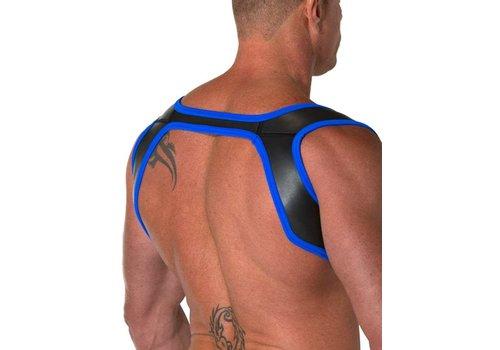 665 Leather Neoprene Slingshot Harness Black/Blue