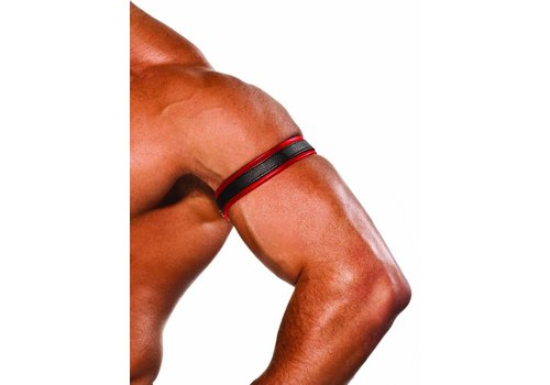 Colt Leather Bicep Strap - Red