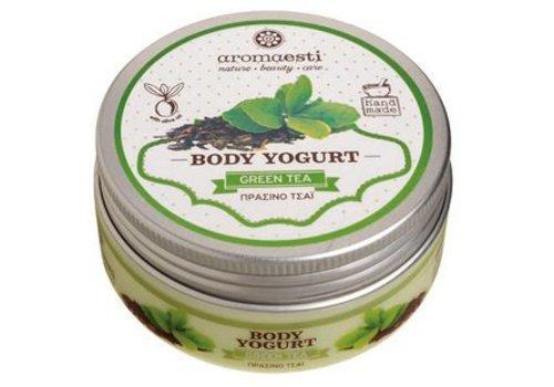 3 x Handgemaakte Body yoghurt groene thee