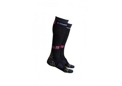 Compressport Full Socks Zwart 3D. DOT - Maat: S1