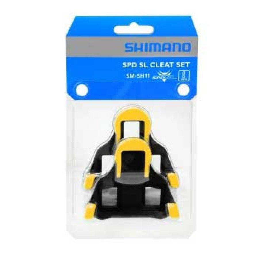 Shimano SM-SH11 SPD SL Schoenplaat (Geel)