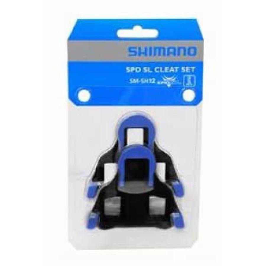 Shimano SM-SH12 SPD SL Schoenplaat (Blauw)