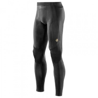 Skins Skins A400 Men Long Tight's Compressiebroek Zwart/Geel