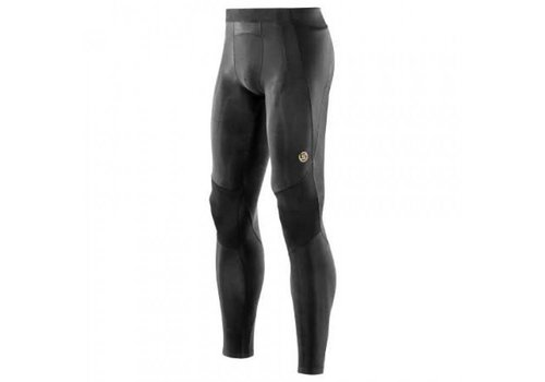 Skins A400 Men Long Tight's Compressiebroek Zwart/Geel