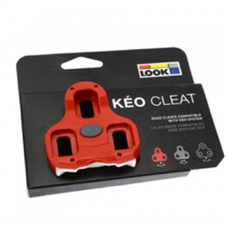 Look Keo Schoenplaat GRIP (Rood)