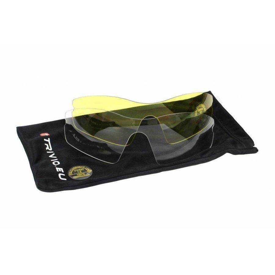 Trivio Vento Fietsbril + 2 extra lenzen