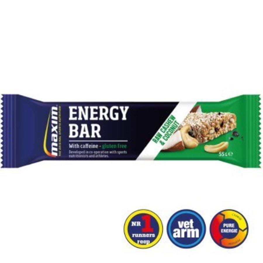 Maxim Energiereep (55gr) Raw Cashew & Coconut / Glutenvrij - Korte THT