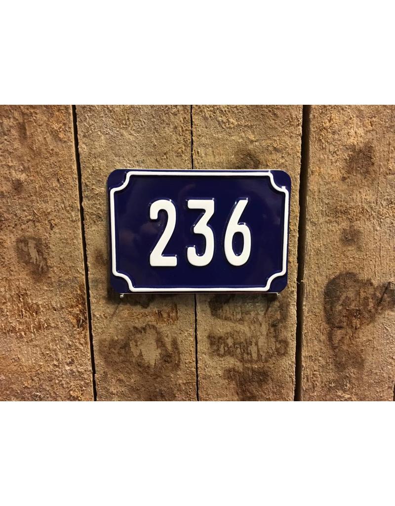 Huisnummer Blauw