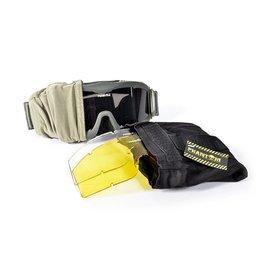 Phantom Tactical Goggle groen - met 3 lenzen