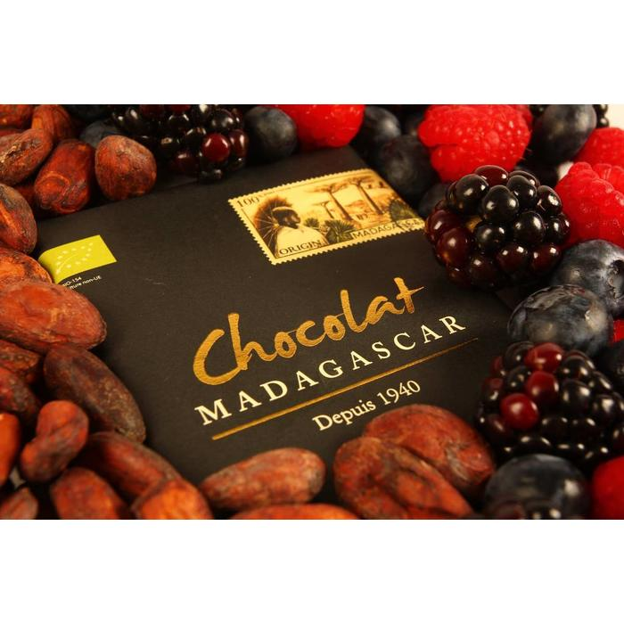 - ORGANIC 100% COCOA dunkle Schokolade | Chocolaterie Robert Malagasy, 85g