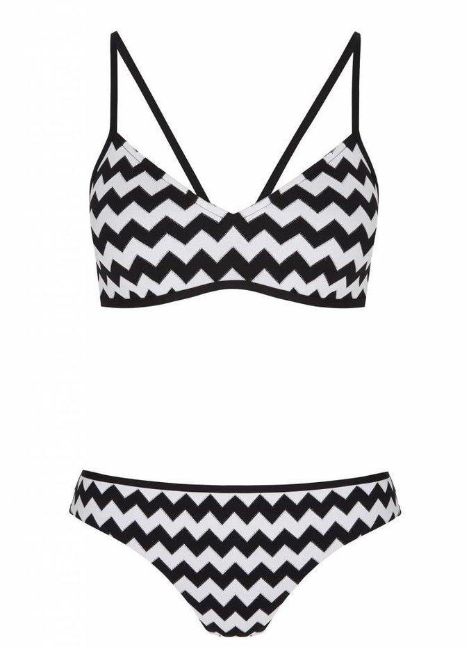 Mod.com Hipster Black and white Zigzag Pattern Bikini bottoms Size 8