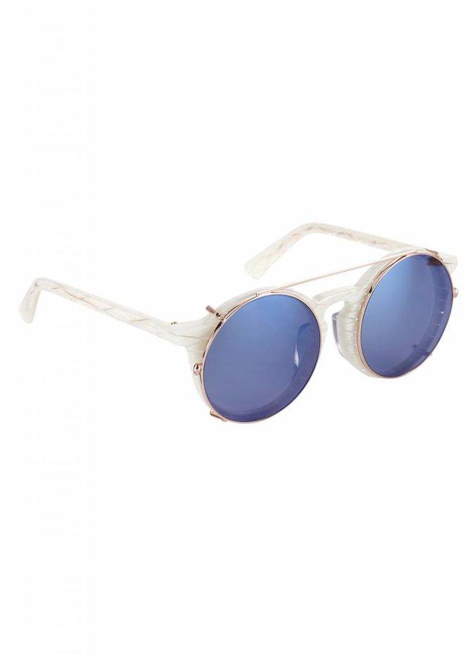"""White """"Matahari"""" Sunglasses"""