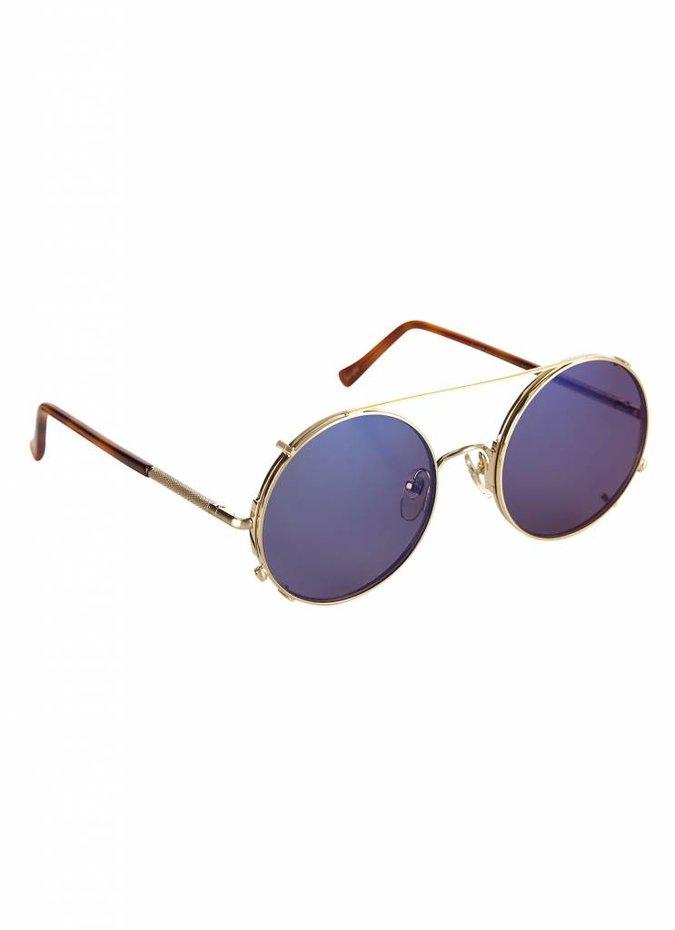 """Valentine"" Gold Detachable Lens Sunglasses"