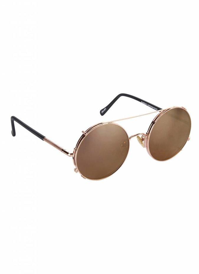 """Valentine"" Rose Gold Detachable Lens Sunglasses"