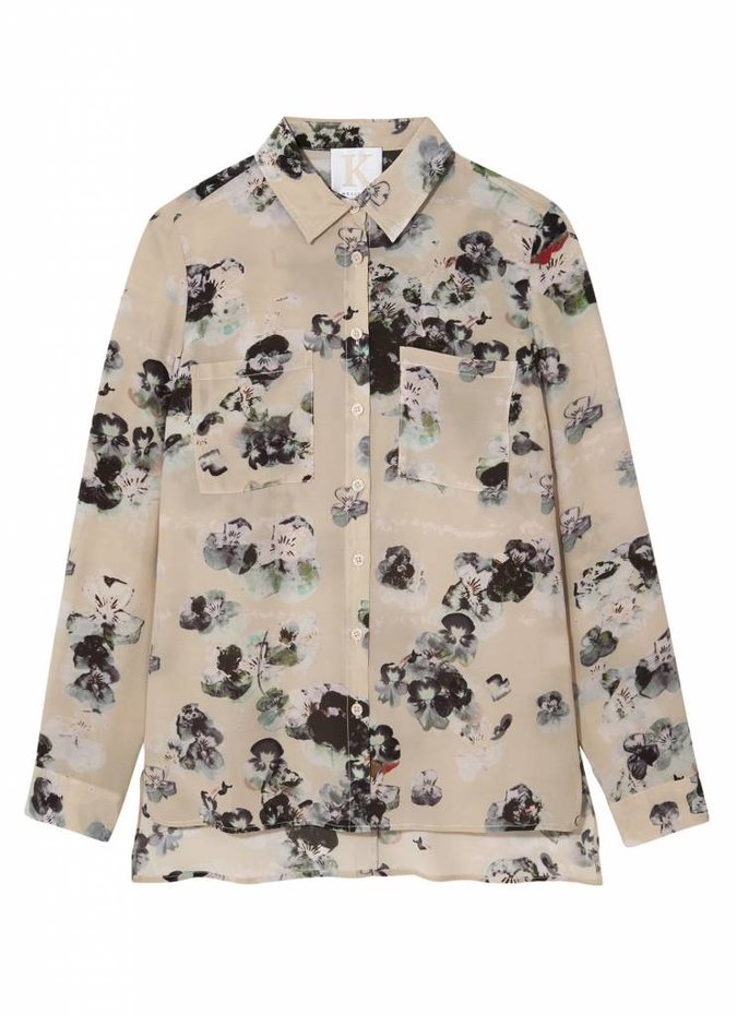 Kelly Love Pressed Pansies Blouse