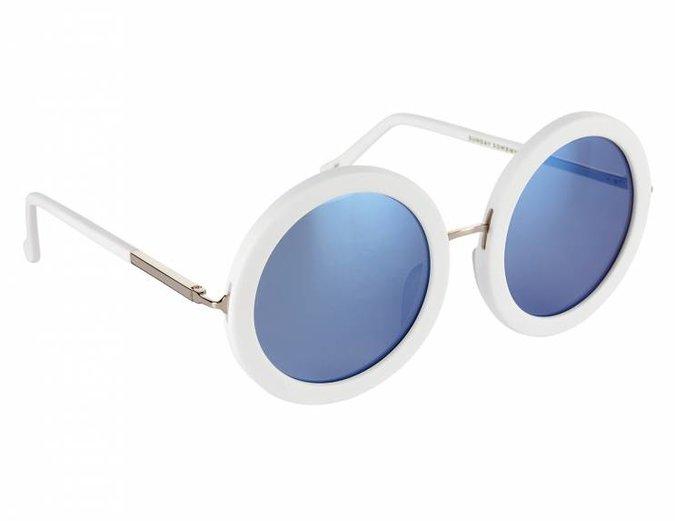 """""""Isabella"""" White Sunglasses"""