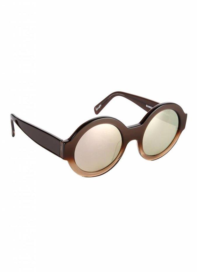 """""""Bruno"""" Brown Two Tone Sunglasses"""
